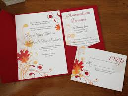 fall wedding invitations fall wedding invitations