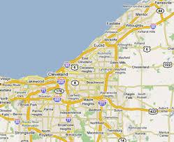 ohio map of cities northeast ohio map my