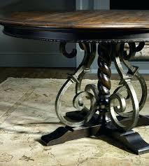 wrought iron pedestal table base wrought iron base dining table wrought iron dining table legs table