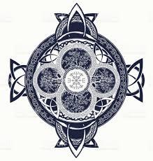 celtic cross tattoo designs celtic cross tattoo dragons and celtic tree of life mystic tribal
