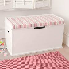Build A Wood Toy Chest by Toy Box Seat Deckchair Pink Cushion Children Love The Idea Of