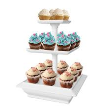 tier stand chef buddy 3 tier collapsible dessert stand white walmart
