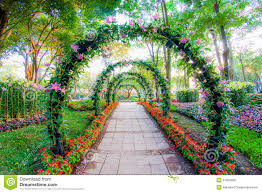 beautiful flower images beautiful flower arches with walkway in ornamental plants garden
