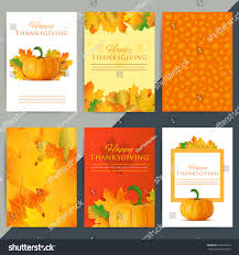set happy thanksgiving day greeting card stock vector 503618569