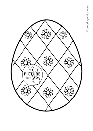easter egg coloring pages for kids prinables easter ornaments