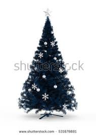 Christmas Tree With Blue Decorations - hand drawn christmas tree stock vector 513208456 shutterstock