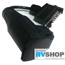 13pin euro socket trailer adapter to 7 pin flat plug rvshop