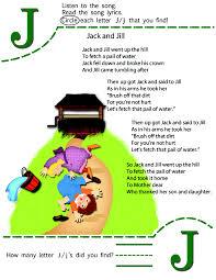 circle the letter j worksheet and nursery rhyme kiboomu kids