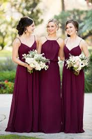 bridesmaid dress trend we burgundy bridesmaid dresses