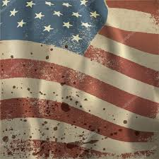 Waving American Flag Waving Vintage American Flag Textured Background With Dry Blood