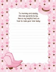 baby shower notes western baby shower notes of advice
