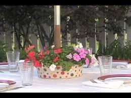 traybrella patio umbrella flower and party trays youtube