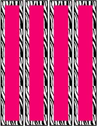 free pink zebra birthday party food cards printables u0026 cupcake toppers