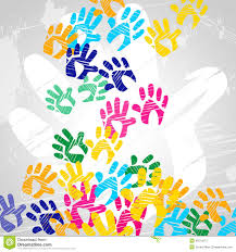 handprints color indicates drawing artwork and colors stock