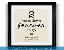 best anniversary gifts for 2 year anniversary etsy