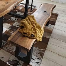 Esszimmertisch Quentin Essgruppe Escoba Aus Akazie Massivholz Mit Baumkante 2 Teilig