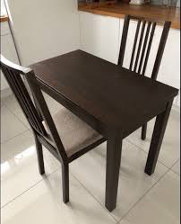 ikea black brown dining table ikea bjursta black brown 50 90cm exending table 2 stefan chairs
