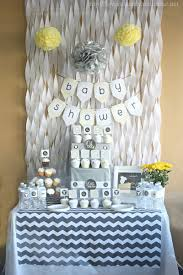 babyshower theme gray yellow baby shower decorating ideas of family home