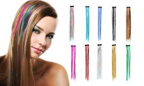 gg s hair extensions up to 84 on glitter hair extensions 10pk groupon goods