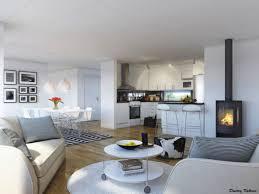 amenagement cuisine petit espace cuisine ouverte salon petit espace avec deco maison petits espaces