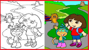 dora the explorer coloring pages dora colouring book colors