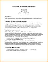 mechanical engineering resume sample resume samples types of