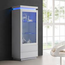 display cabinet glass doors lenovo display cabinet in white high gloss with led light living