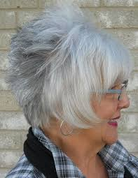 silver hairstyles women over 50 short haircut for women over 60