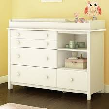 White Dresser Changing Table Combo Dresser Changing Table Combo South Shore Smileys 4 Drawer