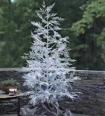 wind weather 59 white artificial tree with 96 led
