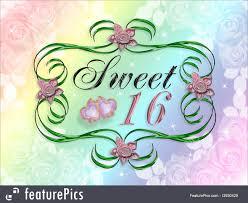 Sweet 16 Invitation Cards Illustration Of Sweet 16 Invitation Card