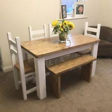 dining table and bench set rustic dining tables sets ebay