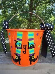 personalized halloween buckets vinyl on buckets u0026 tubs