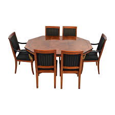61 off vintage dining table set with gold accent tables