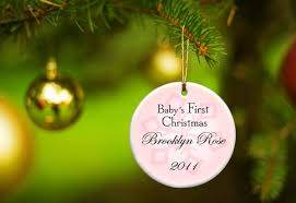 personalized christmas ornaments baby personalized baby girl s christmas ornament available in 2