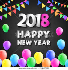 happy new years posters happy new year 2018 poster greeting stock vector 746127823