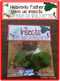 lds org primary manual hollyshome church fun heavenly father gave us insects to make