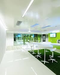 Concrete Ceiling Lighting by Interior Decoration Among Stripes Floor Used White Concrete