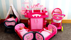 baby dolls nursery center unboxing set up nursery toy w