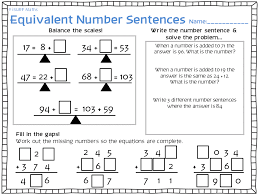 printables number sentence worksheets 2nd grade ronleyba