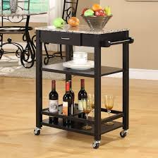 andover mills jamestown kitchen cart with faux marble top