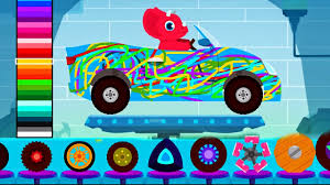 car driving kids truck driver cars monster truck dinosaur
