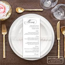 printable wedding menu cards