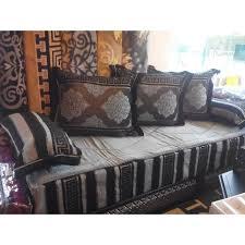 salon canapé marocain kit tissu salon marocain tlamet achat vente housse de canape