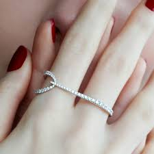 finger ring design diamond gold silver two finger ring designs trends4us