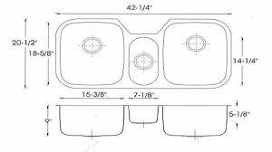 luxury standard size kitchen sink on modern home design style p64