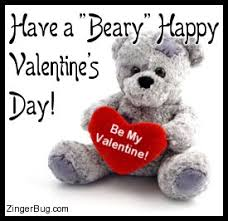 Happy Valentines Meme - beary happy valentines day glitter graphic greeting comment meme