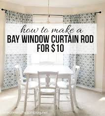 Curtains For Bay Window Diy Bay Window Curtain Rod For Less Than 10 With Regard To Window