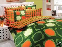 queen bedding orange collection on ebay
