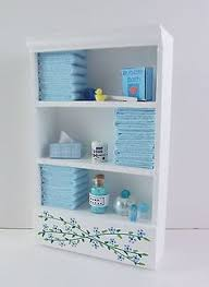dolls house miniature bathroom furniture modern sink basin in